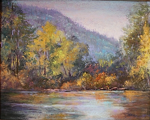 River Runs by Janis Ellison Pastel ~ 16 x 20