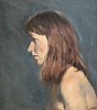 "Profile by Elizabeth Allen Oil ~ 18"" x 16"""