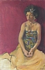 "Woman in Sarong by Elizabeth Allen Oil ~ 30"" x 22"""