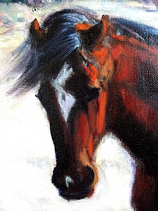 Winter Warrior by Deborah Wilcox Oil ~  x