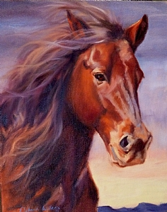 Wild As The Wind by Deborah Wilcox Oil ~ 20 x 16