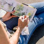 Kari Waltz - Watercolor Journaling in North Carolina mountains