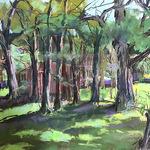 Linda Klenczar - Exhibit of Linda Klenczar watercolors and pastels and Dennis Gordon woodcuts