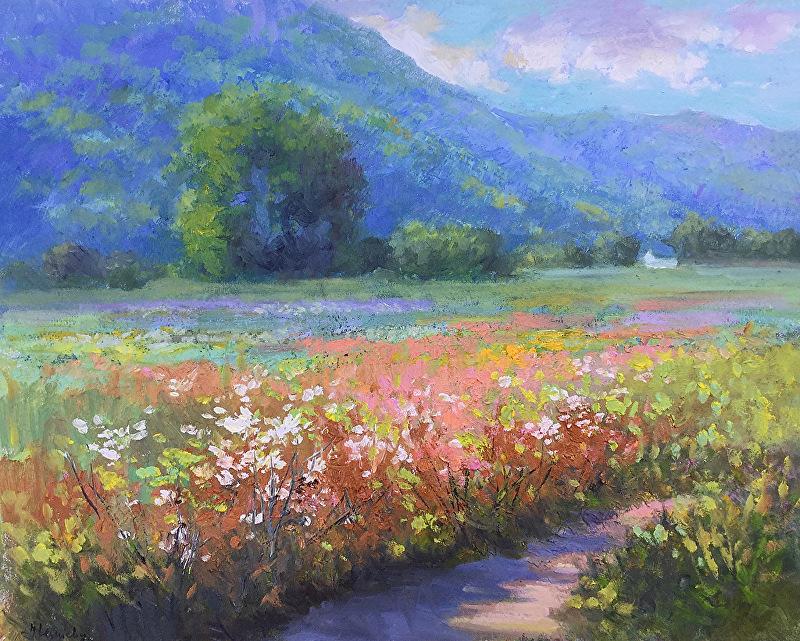 Blooming field in Virginia_16x20