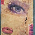 Josie De Meo - Transfert d'image et peinture acrylique