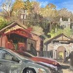 Katherine Farrell - Paint it Ellicott City Exhibition for Public Painters