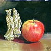 "Consider the Apple... by Nancy Park Oil ~ 6"" x 8"""