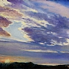 "Oklahoma Skies #1 by Nancy Park Oil ~ 18"" x 24"""