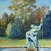 "The Fountains at Will Rogers Park by Nancy Park Oil ~ 20"" x 16"""