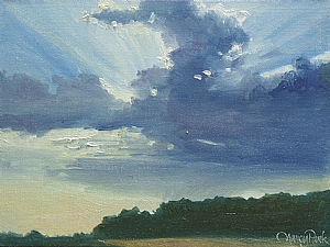 Western Oklahoma Sky by Nancy Park Oil ~ 9 x -