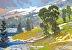 """Lake Lupines by Lynne Fearman  ~ 5"""" x 7"""""""