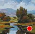 "Cool by LYNNE FEARMAN Oil ~ 3"" x 3"""