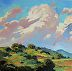 "CUMULUS by LYNNE FEARMAN Oil ~ 6"" x 6"""