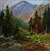 "Mountain View 2 by Lynne Fearman Oil ~ 2"" x 2"""