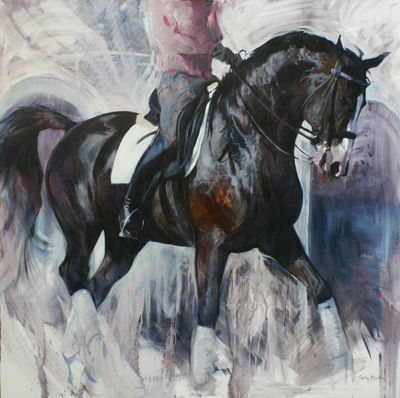 'Reflecting' by Sally Martin Oil ~ 40inch x 40inch