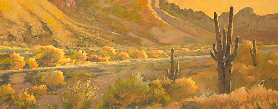 Golden Glow-the Salt River - Oil