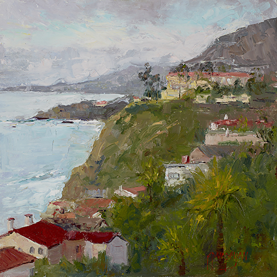 View From the Strand, Laguna Niguel - Oil