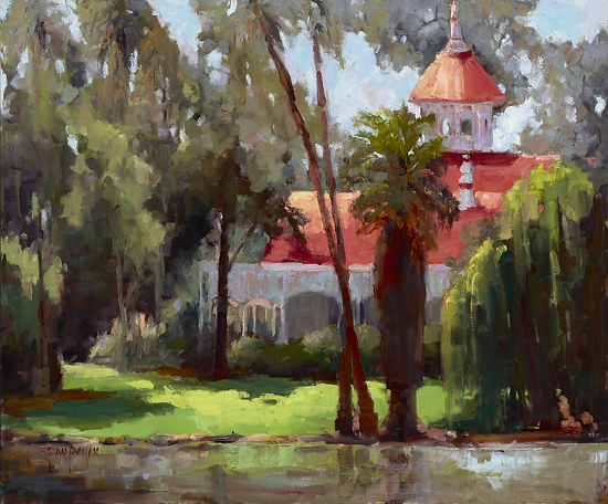 Afternoon at the Lucky Baldwin House - Oil