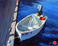 "morning at the dock by Dan Graziano Oil ~ 8"" x 10"""