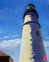 "Portland Head Light by Dan Graziano Oil ~ 20"" x 16"""