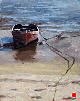 "low tide by Dan Graziano Oil ~ 14"" x 11"""