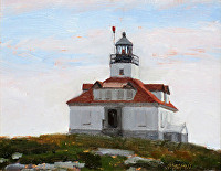 "Egg Rock lighthouse by Dan Graziano Oil ~ 8"" x 10"""