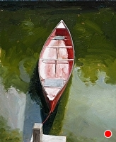 "tied at the dock by Dan Graziano Oil ~ 24"" x 20"""