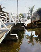 "canal bridge by Dan Graziano Oil ~ 20"" x 16"""