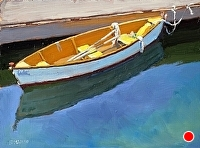 "ready to row by Dan Graziano Oil ~ 9"" x 12"""