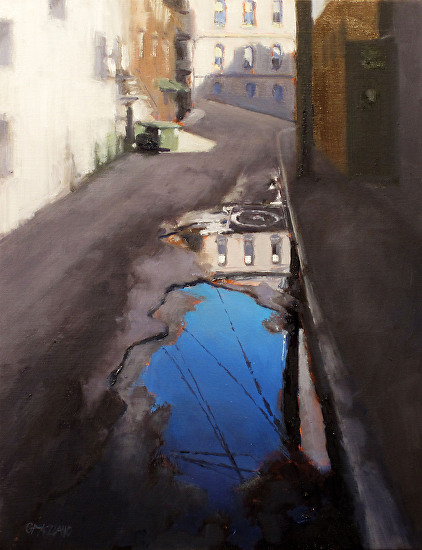 alley reflection - Oil