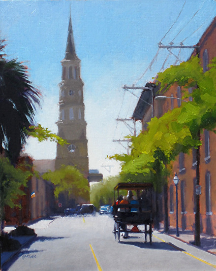 Church Street afternoon - Oil